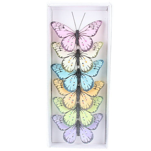 Butterfly Clip, Box/6