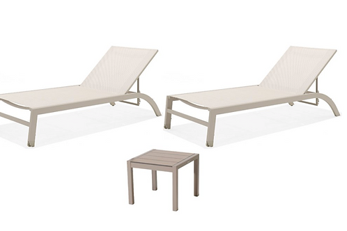 Lifestyle Garden Morella Stacking Sun Lounger with Side Table