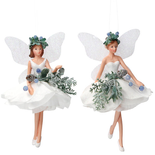 Eucalyptus Resin/Fabric Fairy Decoration