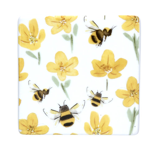 Ceramic Buttercup/Bee Coaster