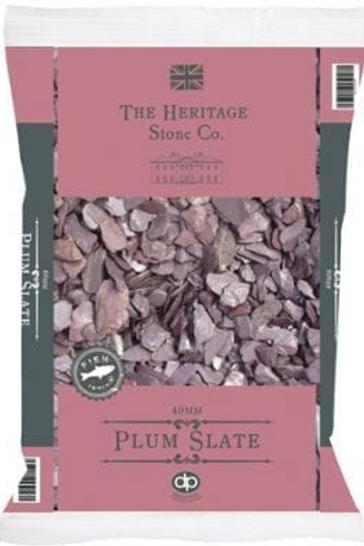 40mm Plum Slate Chippings