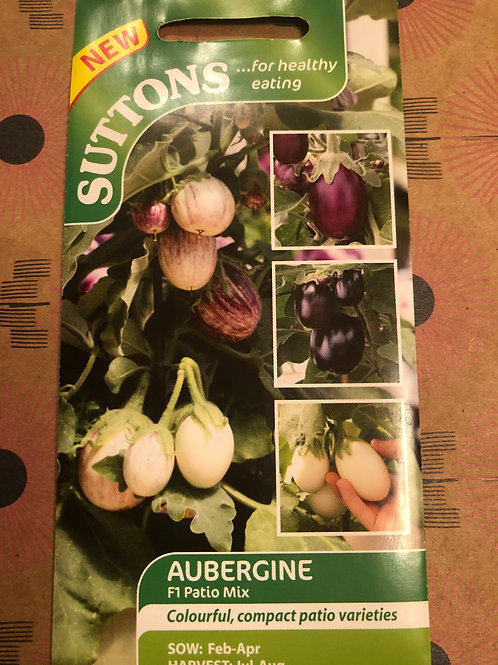 Aubergine F1 Patio Mix