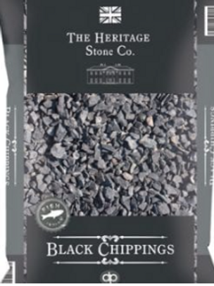 40mm Black Stone Chippings