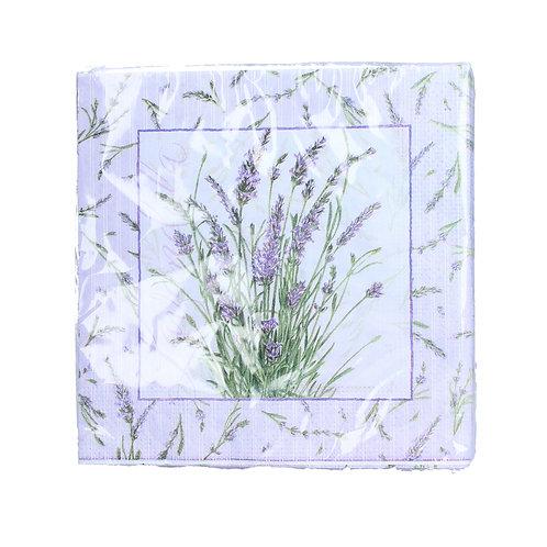 Lavender Sprigs Paper Napkin