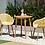 Thumbnail: Lifestyle Garden Nassau Bistro 2 Seater 66cm Round Set - Honey