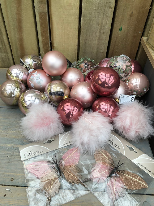 Pink and Gold Bauble Bundle