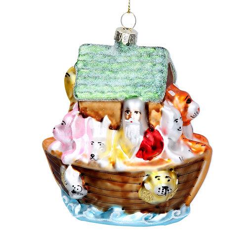 Painted Noah's Ark Decoration