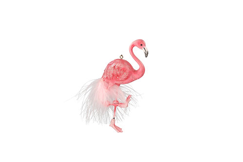 Pink Feather Flamingo Decoration