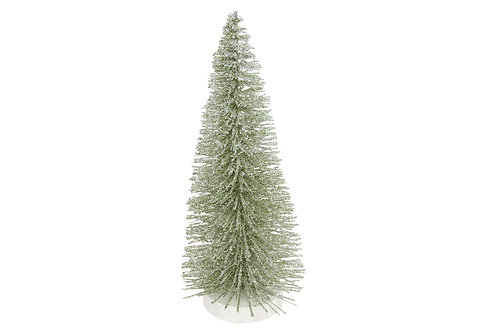 Green Glittered Bristle Tree