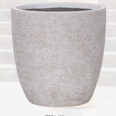Strata Egg Pot White 44cm