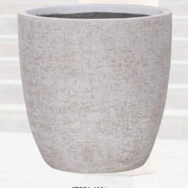 Strata Egg Pot White 38cm