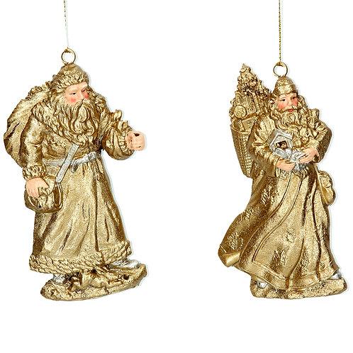 Gold Resin Santa Decoration