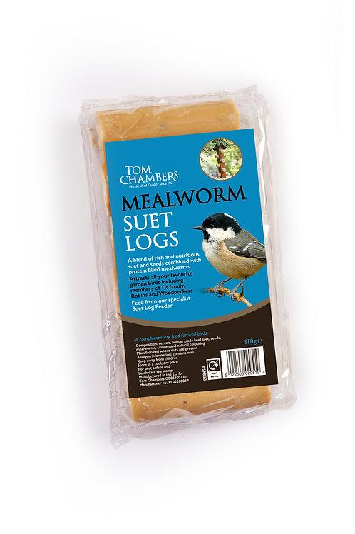 Mealworm Suet Logs