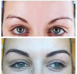 Natural looking brows using our 3d feathering technique!
