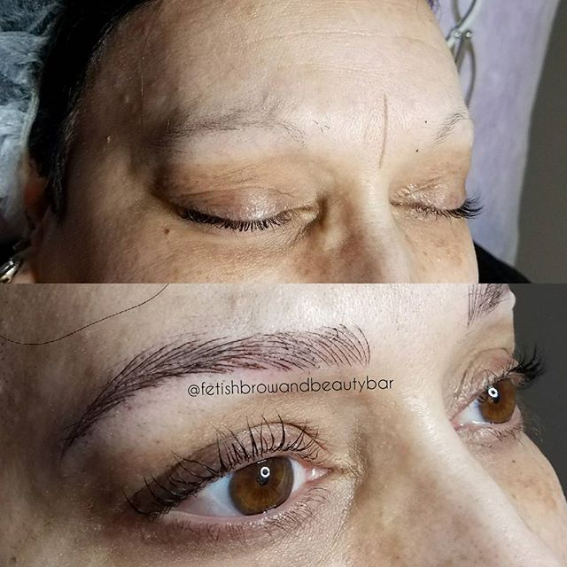 This woman is a trooper with a heart of gold!!! We did microblading and shading for her giving her t