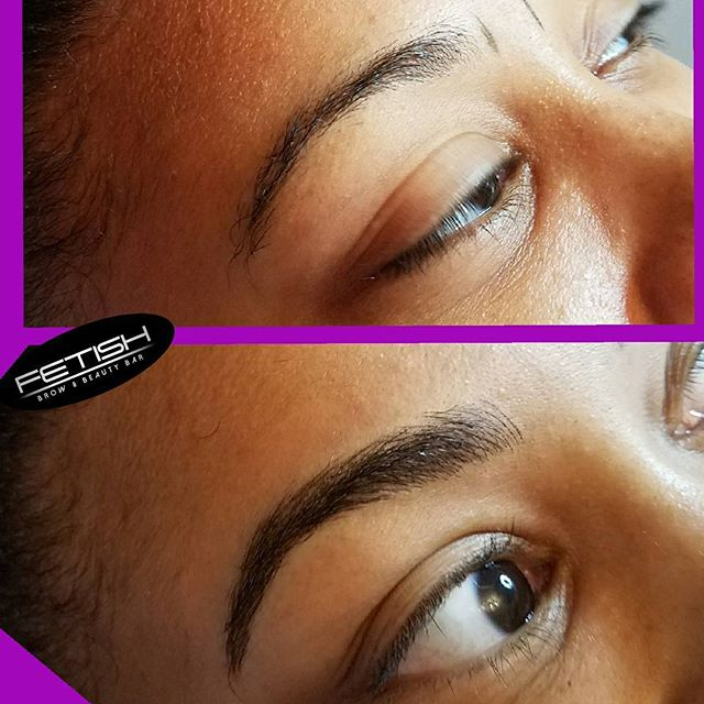 When you love what you do it never feels like a job! Giving definition and shape to these brows was