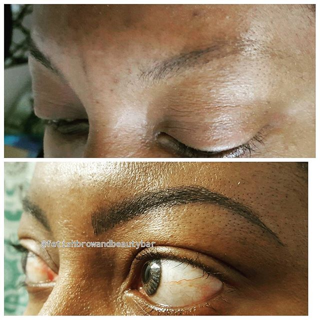 👀👀 IT was my pleasure to give this wonderful woman her new set of brows!! They compliment her so w