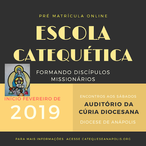 Escola Catequética 2019 pre matrícula online