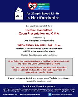 7th April Election Candidates Invite Fac