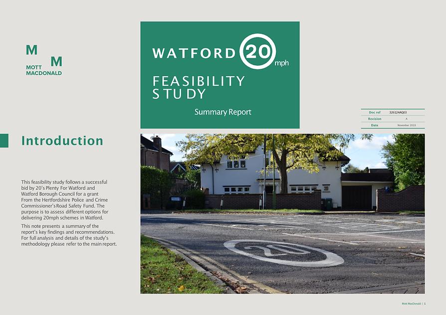 2018 Watford 20mph Feasibility Study Sum