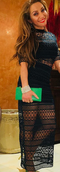 Ready for a night out wearing a long green see-through dress with matching  clutch bag👛 and shoes 👠 like and subscribe to my new YouTube cha