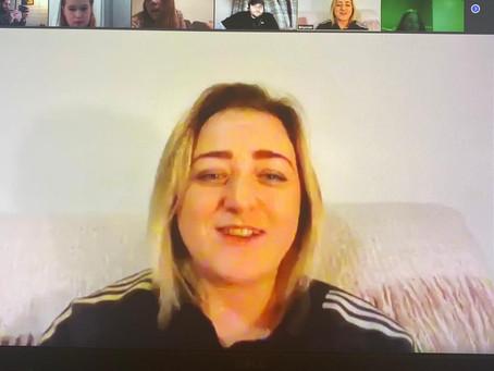 Garforth Villa Girls Meet Leeds United Women's Captain