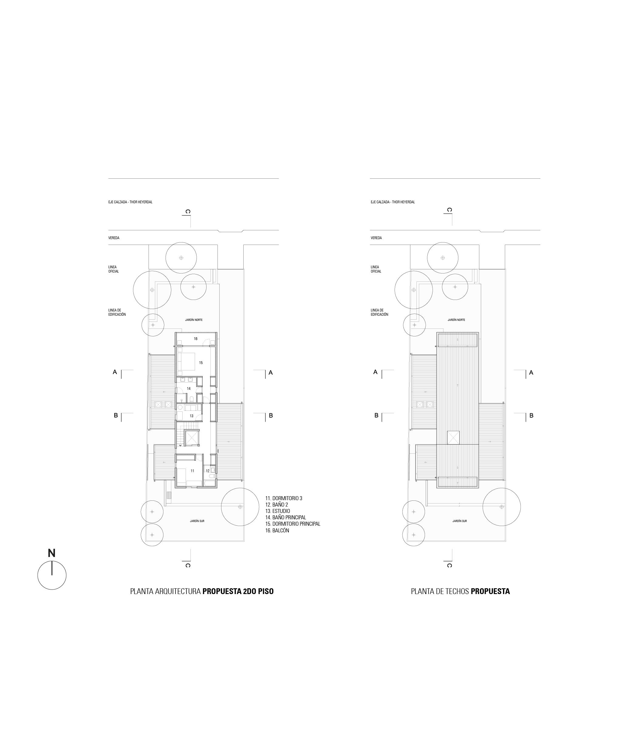 Arquitectura 2 do piso y Techo GA