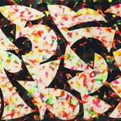 """""""Tweedle Dee"""" 2017, Acrylic on Paper, 12.5""""x19"""""""