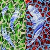 """Four Seasons"" 2021, Acrylic on Paper, 8""x17.75"""