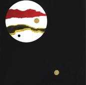 """Bad Moon Rising"" 1969, Spray Paint on Canvas, 30""x40"""