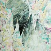 """""""Phoenix DNA"""" 2016, Acrylic on Paper, 11""""x17"""""""