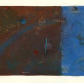 """""""Constructivist Landscpe #2"""" 1980, Gouache, Ink, Pencil on Paper, 18""""x26"""""""