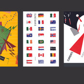 Warner Communications (TimeWarner), Corporate Magazine Design, Covers