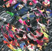 """Psycho Bird"" 2017, Acrylic on Paper, 11""x17"""