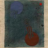 """Lyrical Constructivism #2"" 1980, Gouache, Ink, Pencil on Paper, 11""x12.5"""