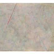 """""""Argyle"""" 1985, Acrylic and Chalk on Canvas, 18""""x24"""""""