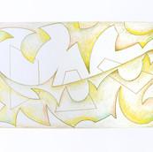 """Study for Auroa Borealis"" 2017, Colored Pencil on Paper, 8.5""x11"""