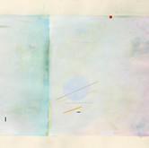 """""""Constructivist Landscpae #1"""" 1980, Gouache, Ink, Pencil on Paper, 17.5""""x25.5"""""""