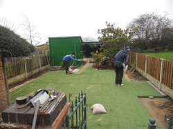 Installation of artificial turf