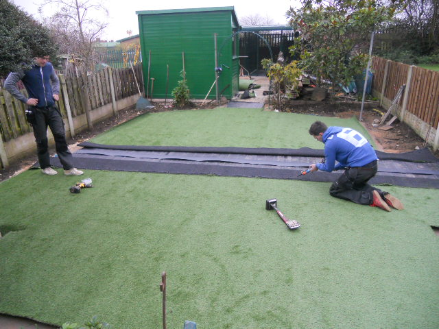 Installation of artificial turf