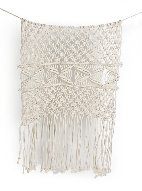 Off white crochet wall hanging