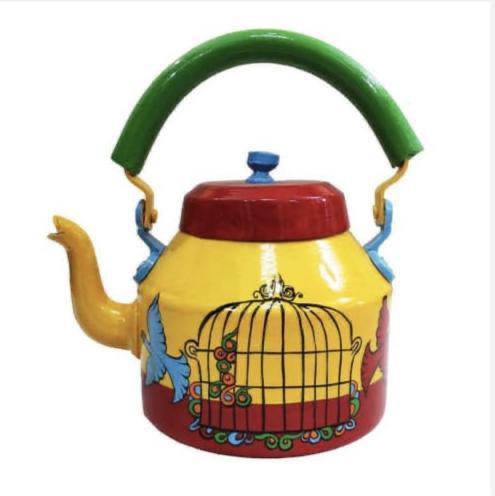 Colourful tea kettle