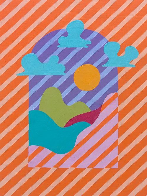 Orange Creamsicle Print