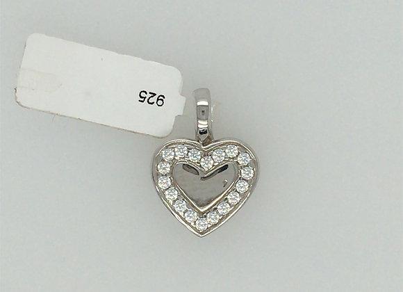 925 Silber Anhänger Herz