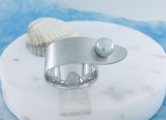 Bastian Ring Perle grau