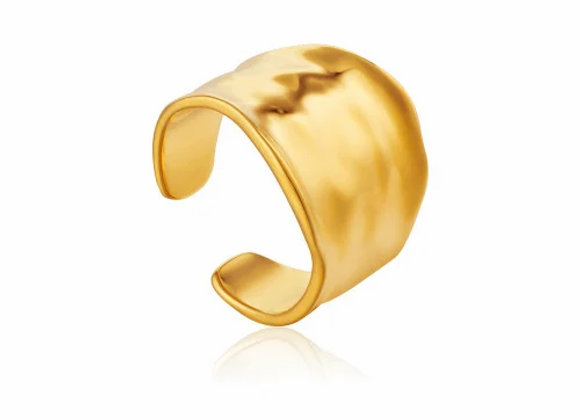 Gold Crush Wide Adjustable Ring