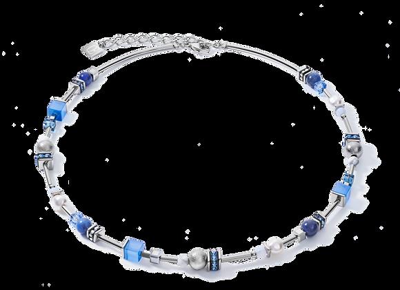 Coeur de Lion Collier silber-blau