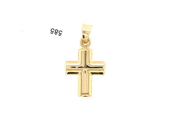 Kreuzanhänger Gold