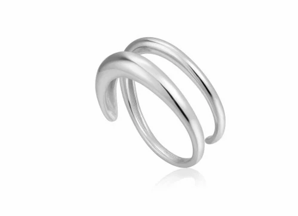SILVER LUXE TWIST ADJUSTABLE RING