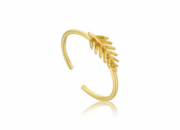 Gold Small Palm Adjustable Ring